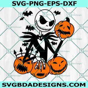Jack Skellington Halloween Svg, Skeleton Svg, Halloween Svg, Silhouette, Cricut , Digital Download