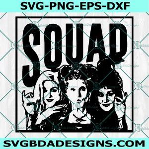 Hocus Pocus Squad SVG , SquadGoals SVG, Sanderson Sisters SVG, Witches Hair Cute, Halloween Svg,Sihouette, Cricut, Digital Download