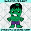 Baby Hulk Svg, Baby Hulk, Hulk Svg, Chibi SuperHero Svg, Avengers Svg, Marvel Cricut, Digital Download