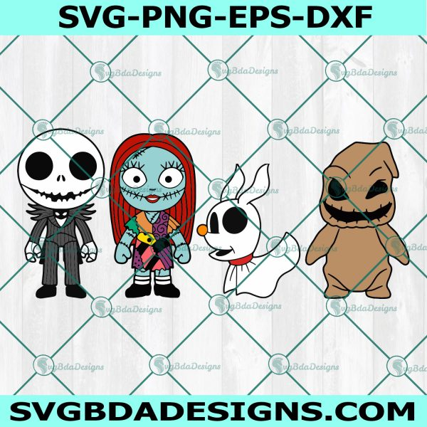 Baby Jack and Sally Svg, Baby Zero Svg, Baby Oggie boogie Svg, Nightmare Before Christmas Svg, Cricut, Digital Download