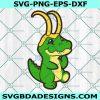 BaBY Alligator Loki Svg, Loki Svg, Alligator Svg,Cricut, Digital Download