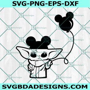 Baby Yoda Mickey Ears Svg, Baby Yoda Mickey Ears, The Child svg, Mandalorian baby svg, Star Wars svg, Cricut, Digital Download