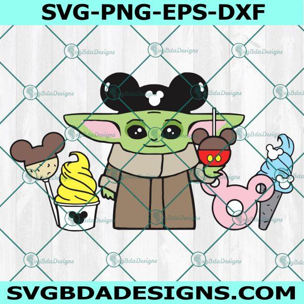 Baby Yoda ears Disney snacks, Disneyland , Star Wars The Mandalorian, Cricut, Digital Download