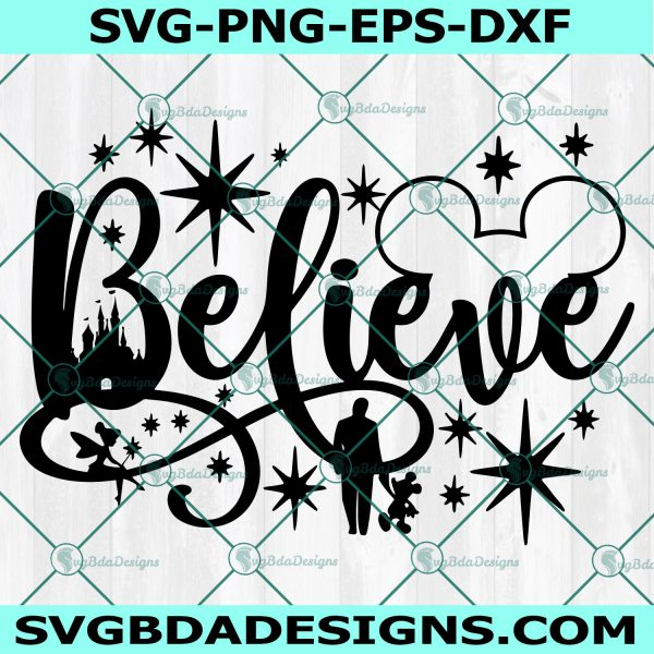 Believe in Magic svg, Believe in Magic,Mickey mouse svg, Mickey Head svg, castle svg, Cricut, Digital Download