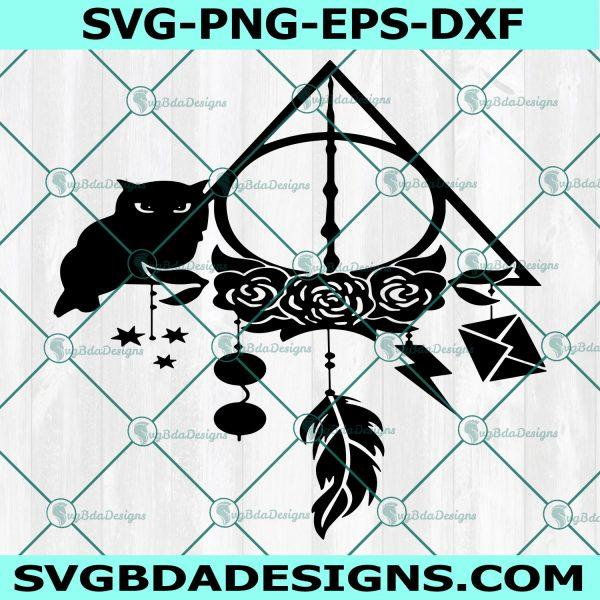 Black Owl Svg, Black Owl, Dreamcatcher Svg, Harry Potter Svg, Hogwarts School Svg, Halloween Svg, Cricut , Digital Download