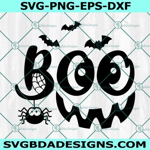 Boo Halloween svg, Boo Halloween, Spider Svg, Smile svg, Ghost Smile svg, Boo crew Svg, Halloween Svg,Cricut, Digital Download