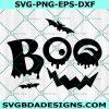 Boo Pumpkin Svg, Boo Pumpkin, Halloween Bats Svg, Halloween SVG, Cricut, Digital Download