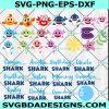 Bundle Baby Shark Svg, Family Shark Svg, Shark Svg, Baby Shark Doo Doo Doo Svg, Cricut, Digital Download