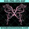 Butterfly Cancer Ribbon Svg, Swirly Svg, Butterfly Cancer Svg,Ribbon Svg, Cricut, Digital Download