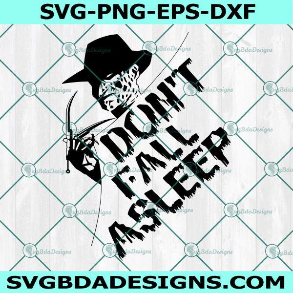 Don't fall asleep Svg, Don't fall asleep, freddy svg, freddy krueger svg, nightmare svg, Halloween Svg, Cricut, Digital Download