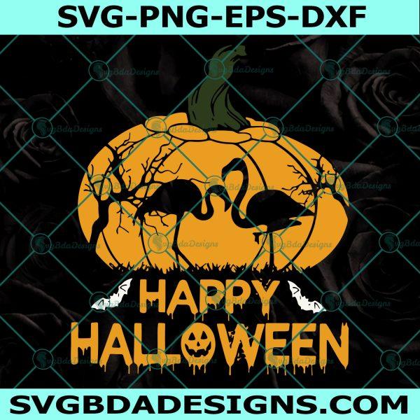 Flamingo Happy Halloween,Flamingo Svg, Flamingo Happy Hallowee, Halloween svg, Cricut, Digital Download