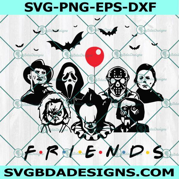 Friends Halloween SVG, Michael Myers SVG, Halloween Svg, Chucky svg, Scary Friends Svg, Horror Movie Killers Svg, Cricut, Digital Download