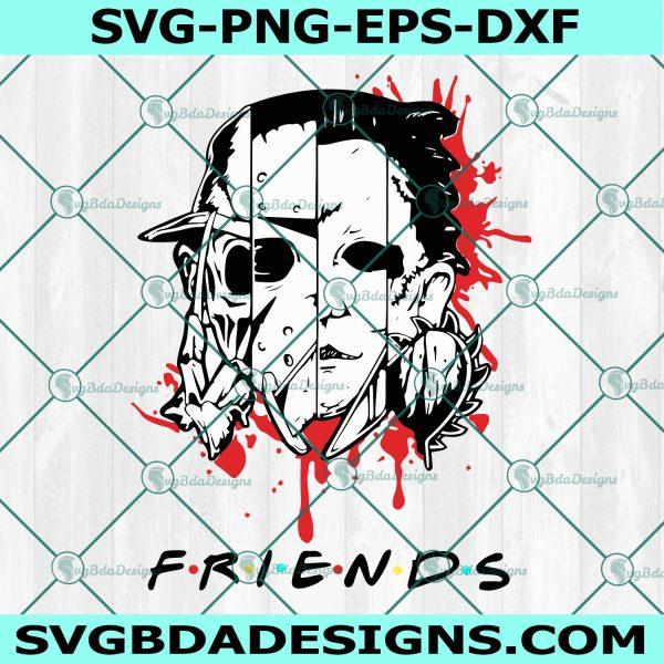 Friends Horror Movies Svg, Friends Horror Movies, Horror Character Svg, Horror Film Svg, Halloween Svg, Sihouette, Cricut, Digital Download