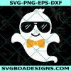 Ghost Boy Svg, Cute Ghost, Ghost with Sunglasses Svg, Cool Ghost Svg, Kids Halloween Svg, Cricut, Digital Download