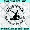 Good Witch Just Kidding Im Bad Too Svg, Good Witch Svg, Wicked Witch SVG, Bad Witch svg , Halloween Svg, Cricut , Digital Download