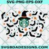 Halloween Starbucks Witch Svg, Starbucks Svg, Halloween SVG, Cricut, Digital Download
