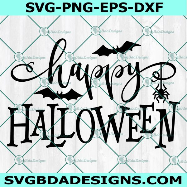 Happy Halloween Svg, Spooky Svg, Bats SvgHalloween SVG, Cricut, Digital Download