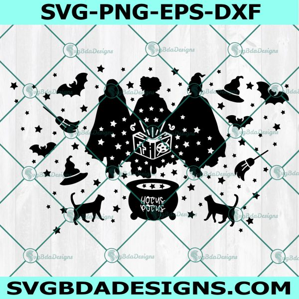 Hocus Pocus Full wrap Svg, Witch Svg, Sanderson Sisters Svg, Hocus Pocus svg,Halloween Svg , Cricut, Digital Download