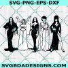 Horror Goth Queens Svg, Horror Goth Queens ,Morticia Addams Lily Munster Vampira Bride of Frankenstein & Elvira , Halloween Svg , Cricut , Digital Download