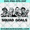 Horror Movie Squad Goals Svg, Horror Movie Squad Goals, Horror Character Svg, Halloween Svg, Cricut, Digital Download