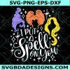 I put a Spell on You Svg, I put a Spell on You, Halloween Witch Svg, Sanderson Sisters Svg, Hocus Pocus Svg,Cricut, Digital Download