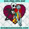 Jack and Sally Love SVG, Jack and Sally Love, Nightmare before christamas svg, Valentine day Svg, Halloween Svg, Cricut, Digital Download