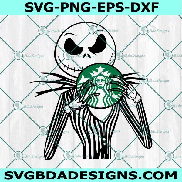 Jack Skellington Starbucks SVG, Full Wrap for Starbucks Svg,, Nightmare Before Christmas Svg, Halloween SVG, Cricut, Digital Download