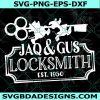 Jaq and Gus Locksmith Svg, Jaq and Gus Locksmith, Cinderella Quote Svg, Disney Hand Lettered Svg, Cricut, Digital Download