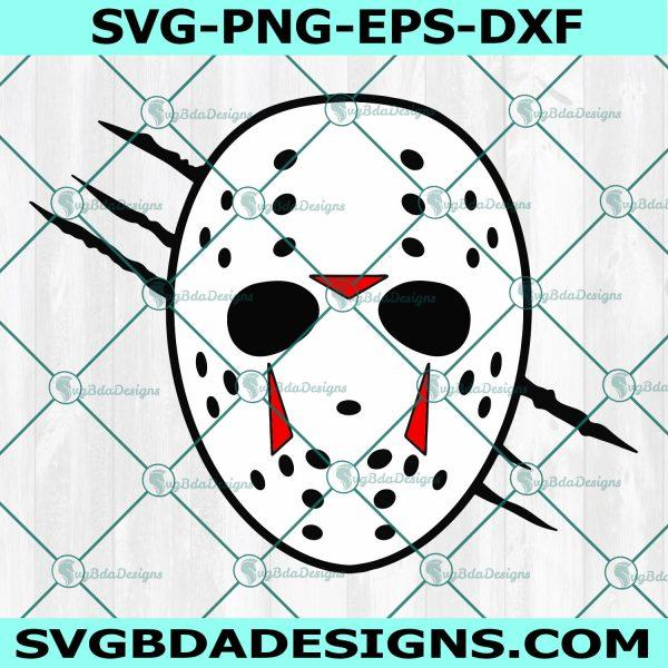 Jason Voorhees Facemask Svg, Jason Voorhees SVG, Halloween Svg, Horror Movie Killers Svg, Cricut, Digital Download
