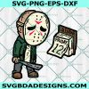 Jason Voorhees Friday the 12th Svg, Jason Voorhees SVG, Halloween Svg, Scary svg, Horror Movie Killers Svg, Cricut, Digital Download