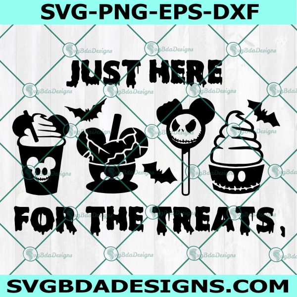 Just Here For The Treats Svg, Disney Halloween SVG, Mickey Snack Goals, Halloween Treats SVG, Cricut, Digital Download