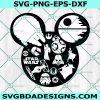 Mickey Head Star Wars Svg, Disney svg, Star Logo Svg, Star Wars Svg,Cricut, Digital Download