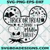 Mickey Trick or Treat Svg,Trick or treat down main street svg, Mickey svg, Disney svg, Disney halloween svg, Cricut, Digital Download