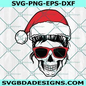 Mom Skull Christmas svg, Mom Skull Christmas .Christmas eggnog lover mother xmas Svg, Mom life SVG, Momlife skull Svg, Cricut, Digital Download