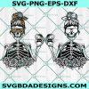 Mom Skull Skeleton svg, Mom Skull Skeleton, Messy bun skull svg, Mom life SVG, Momlife skull Svg, Patriotic svg,Cricut, Digital Download