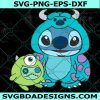 Monster Inc Stitch Svg, Halloween Svg, Cricut, Digital Download