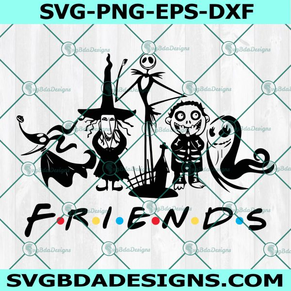 Nightmare Friends Svg , Halloween Friends Svg, Nightmare before Christmas Svg, Cricut, Digital Download