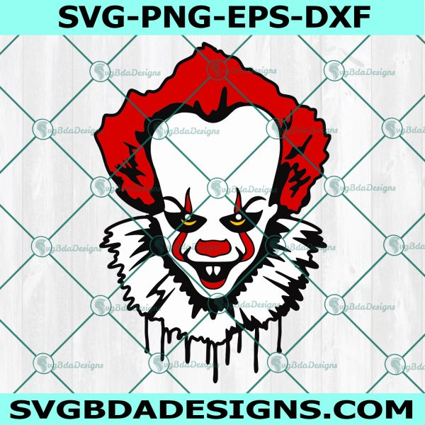 Penniwise Face Svg, Penniwise Svg, Horror Character Svg, Horror Movies Svg, Halloween Svg, Cricut, Digital Download