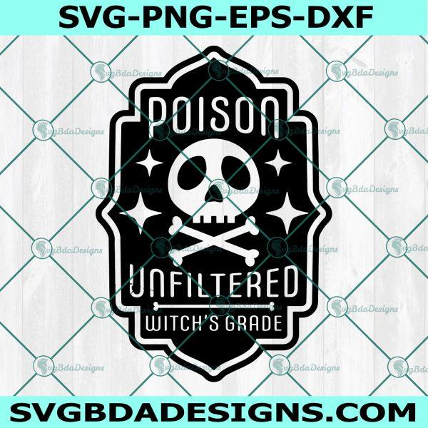 Poison Halloween Label SVG , Poison Label, witch's brew svg, skull svg, Halloween SVG, Cricut, Digital Download