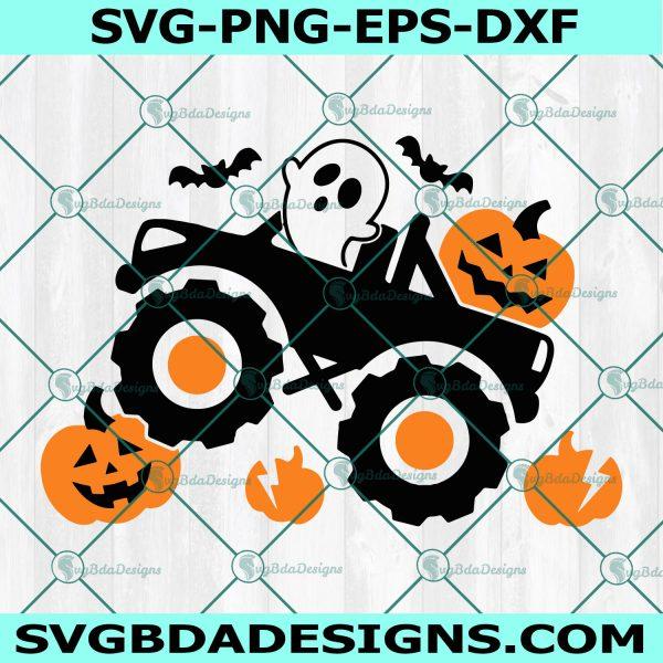 Pumpkin Monster Truck Svg, Pumpkin Svg, Monster Truck Svg, Boys Halloween Svg, Ghost Svg