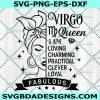 Queen Virgo Svg, Virgo Afro Queen Svg, Black Woman Svg, Afro Girl Svg