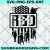Remember Everyone Deployed Svg, Red Friday Svg, Military Svg, American Flag Svg
