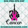 Skeleton Hand Fuck Cancer svg, Breast Cancer svg, Cancer Survivor svg, Cancer Ribbon, Cancer Awareness svg, Cricut, Digital Download