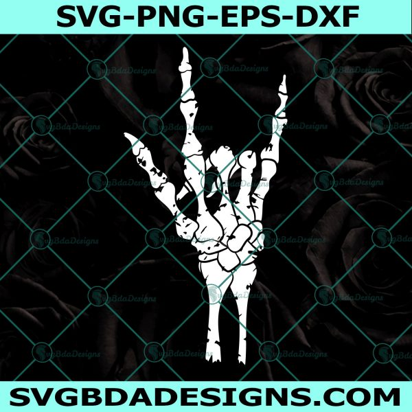 Skeleton hand svg, Skeleton hand, rock on hand svg, skeleton svg, bones svg, Halloween svg, rock on svg, Cricut, Digital Download