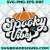 Spooky vibes Pumpkin Svg, Spooky vibes Pumpkin, Halloween Pumpkin Svg, Halloween SVG, Cricut, Digital Download