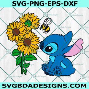 Stitch Sunflowers Svg, Stitch Sunflowers, Stitch Svg, Disney svg, Christmas Svg, Cricut, Digital Download