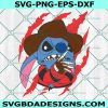 Stitch freddy krueger Svg, Stitch freddy krueger, Horror Character Svg, Disney Svg, Halloween Svg, Cricut, Digital Download