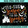 Tis the season to be spooky svg, halloween svg, mickey mouse svg, magic vacation svg, Cricut, Digital Download