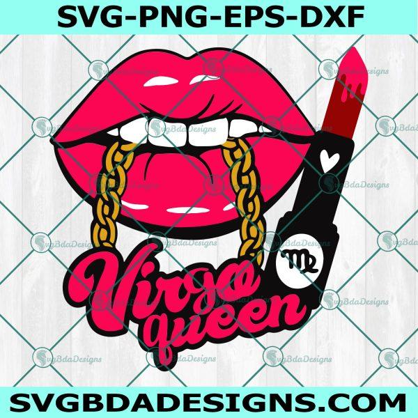Virgo Lips With Chain SVG,Virgo Lips svg,Virgo Queen Lips SVG,Virgo Queen SVG,Virgo Zodiac svg , Cricut, Digital Download