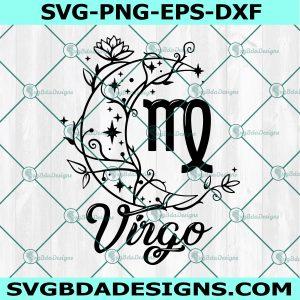 Virgo Zodiac Svg, Queen Virgo Svg, Virgo Queen Svg, Birthday Virgo Svg